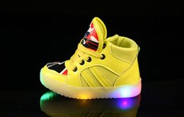 Wholesale China Sale Shoes Kids - 4 colors Fashion China Cool LED Lighted Kids Shoes Hot Sales Fashion Spring Autumn Boys Girls Children Sneakers Lovely Baby Boots