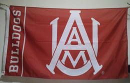 Wholesale Alabama Flags - Alabama A&M Bulldogs Flag 90 x 150 cm Polyester NCAA Stars And Stripes Banner