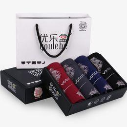 Wholesale Cheap Wholesale Underwear For Men - Underwear Men Modal Boxer Cuecas Breathable Comfortable Underwear For Men Cheap Boxers Shorts 4Pcs lot Drop Shipping Wholesale