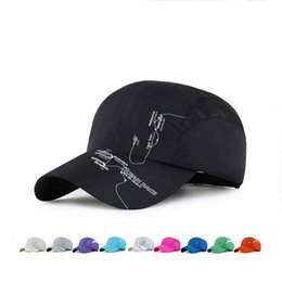 Wholesale Dome Tracking - New arrival Men and women outdoor shade baseball cap printing track net hat summer adventure walking hats EMB137