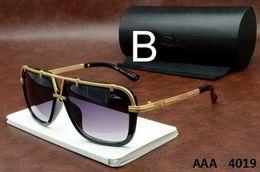 Wholesale Big Frame Vintage Eyeglasses - Ca zal Sun glasses Eyewear 4019 Luxury Polarized Vintage Mens Womens Aviator Sunglasses Brand Designer Oversized Big Frame Eyeglasses