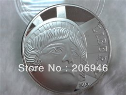 Wholesale Fairies Statues - Exquisite US Statue of Liberty & Eagle Silver Plated Commemorative Coin Token