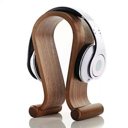 Wholesale Headset Decorations - Samdi Wood Birch Headphone Stand Hanger Holder for Earphone Fashion Decorations for Wearing Headset