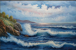 Wholesale Seagulls Wall - Seascape Seagull Flying over Stormy Sea,High Quality Handpainted Wall Art Oil Painting On Canvas.Various Sizes Free Shpping Ss041