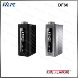 Mod dimensioni della batteria online-100% originale Digiflavor DF60 Box Mod Batteria 60W 1700mah DF 60 VW TC Modi batteria con chip unico Dimensioni ridotte