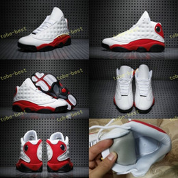 Wholesale Red Cat Racing - 2017 High Quality Retro 13 Chicago White Red Black Cat Men Women Basketball Shoes 13s Chicago Sneakers Eur Size 36-47 us 5.5-13