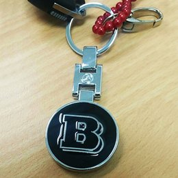 Wholesale Car Key For Mercedes - Metal Key Chain Keyring Brabus B Logo Emblem for Mercedes Car Keys Keychain