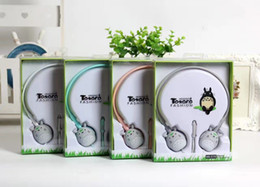 Wholesale Packaging For Headbands - New Arrival Cartoon Totoro Headphone Headset Stereo Earphone Handsfree for cell phone retail package