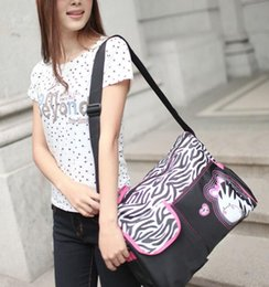 Wholesale Giraffe Bags - Animal Diaper Bag Mummy Bag Nappy Zebra or Giraffe Babyboom Multifunctional Fashion infanticipate Bags Mother Baby Bag TOP1574