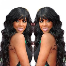 Wholesale Chinese Bangs Black Women - Virgin Full Lace Wigs Human Hair Brazilian Body Wave Lace Front Wig With Bang Glueless Full Lace Human Hair Wigs For Black Women