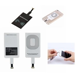 Wholesale Film Charger - Qi Wireless Power Charger Receiver Film Wireless Charger Charging Receiver Module Sticker For Phone Samsung Any Smartphone