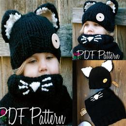 Wholesale Wholesale Linen Summer Scarves - Kids Fox Ear Winter warm Windproof hat Babies Cartoon Cute Cap Baby Hats And Scarf Set For Kids Boys Girls Shapka Caps LC648