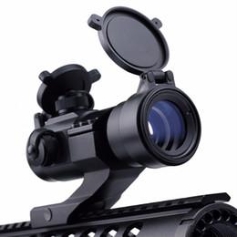 Wholesale M3 Scope - VERY100 1X35 Red Green Dot laser Telescopic Sight Illuminated M3 Rifle Scope 20mm mount