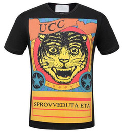 Camiseta para hombre imprimiendo nuevos diseños online-Pro Designs Brand New Classic Hombres Camisetas Angry Cat Print manga corta O cuello Mens T-shirt Cotton Tees Tops Italia Brand camiseta