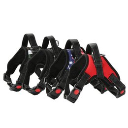 Wholesale Extra Large Dog Collars - Soft Adjustable Dog Harness Vest Collar Big Dog Rope Collar Hand Strap Pet Traction Rope for Small Medium Large Dogs