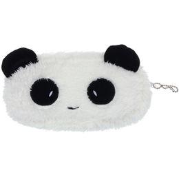 Бумажные кошельки онлайн-Wholesale- Men Women Coin Purse Plush Panda Cartoon Zipper Mini Wallet Children Cute Pen Pencil Monederos Mujer Monedas #6207