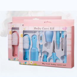 Wholesale Hair Nail Kits - 10Pcs Set Baby Kids Toddler Grooming Healthcare Kits Nail Nasale Hair Care Set Nail Clipper Hair Comb Multi Tool Health