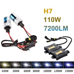 Wholesale H11 Xenon Set - 2pcs 55W Xenon HID Set Sigle Beam DC330 4300K 6000K 8000K H4 H7 H8 H9 H11 Headlight Car Light Source