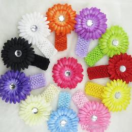 Wholesale Sunflower Crochet Headband - Childrens Accessories Hair Flowers Crochet sunflower Headbands Baby Hair Accessories Children Hair Accessories Kids Baby Headbands