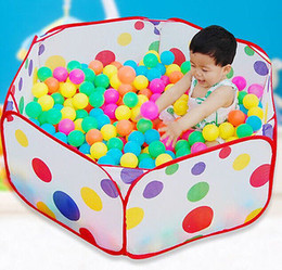 Wholesale Play Pits - Wholesale-New Children Kid Ocean Ball Pit Pool Game Play Tent In Outdoor Kids House Play Hut Pool Play Tent