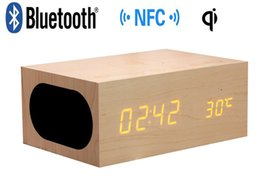 Wholesale Computers Equipment - X5 QI Wireless charging function Bluetooth CSR4.0 Wooden Bluetooth speaker for mobile phone   computer   TV and other digital equipment