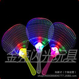 Ventiladores luminosos led online-Nuevo ventilador de flash LED de plástico, ventilador luminoso, venta caliente en verano, juguetes luminiscentes, ventilador creativo