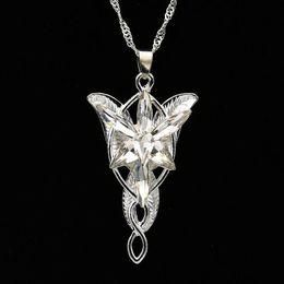 Wholesale Arwen Evenstar Silver - Arwen Evenstar necklace the Elves princess fashion crystal silver pendant for women wholesale