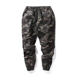 Wholesale New Fashion Military Pant - Harajuku Brand Military Pants Men Elastic Waist Camouflage Joggers 2017 New Fashion Solid Black Casual Outwear Pencil Pants XXL