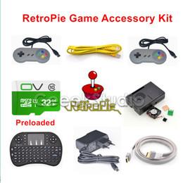 Wholesale Raspberry Pi Accessories - Freeshipping Raspberry Pi 3 Model B 32GB Preloaded RetroPie Game Console Accessories Kit