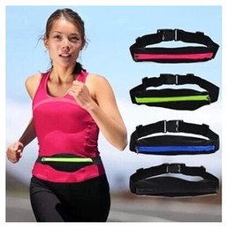 Wholesale Cute Waist Bag - Wholesale- Cute Waist Pack Waist Bag Waterproof Women Bags Stretchable Pouch Pocket Phone Bag for IPHONE
