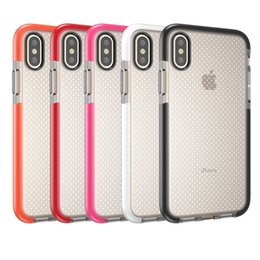 Wholesale Iphone Shells - For iPhone X 8 10 Mesh EVO Soft TPU Case Gel Phone Back Cover Dot Shockproof Shell for iPhone8 iPhoneX Samsung Galaxy S9