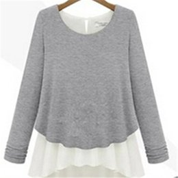 Wholesale Womens Thin Sweaters - Wholesale-2016 Autumn Spring New Design Womens Casual Pullovers Thick O-neck Loose Long Sleeve Sweater Knitted Blouse Khaki&Gray KH653114