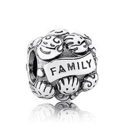 Wholesale Family Fit - Fits Pandora Charm Bracelet Family MemberBeads Silve Big Hole Loose Charms For Diy European Style Snake Chain Bangle Necklace Women Jewelry