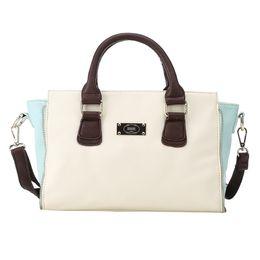Wholesale Small Pvc Shopping Bags - 2016 Fashion small mini handbag should bag cross body bag Patchwork for women handbags online Patchwork shopping vintage handbags J8017R