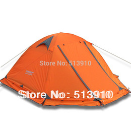 Wholesale Door Skirt - Wholesale- Winter tent with snow skirt!2-3persons aluminum pole double layer double door windproof wind proof professional camping tent