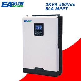 Wholesale 24v Power Inverter Pure Sine - EASUN POWER 3Kva Solar Inverter 2400W 500V PV Input 24V 220V 80A MPPT Pure Sine Wave Inverter 50Hz Off Grid Inverter Charger