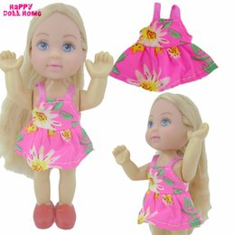 Wholesale Casual Wear For Little - Summer Mini Outfit Little Pink Dress Party Daily Casual Wear Holiday Costume Clothes For Barbie Sister Kelly Doll Accessories