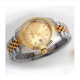 Wholesale Diamond Watch Band Men - New AAA Dress Men watches Luxury watch Diamonds Calendar Dial Stainless Steel Band Quartz Wristwatches For men role relojes clock Best Gift