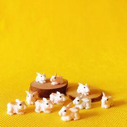 Wholesale Home Decor Dolls - wholesale~20 Pcs  miniatures animals rabbit cute fairy garden doll house terrarium gnome figurine home desktop decor diyc012