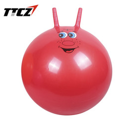 Wholesale Health Air - Wholesale-New 55cm Yoga Ball Health Balance Pilates Fitness Gym Home Exercise Sport with Air Red,Blue Color