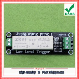 Wholesale Dc Control Solid State Relay - Free Shipping 3pcs 1 low-level trigger solid-state relay module DC-DC load 5A switch control board module 5V (C4A2