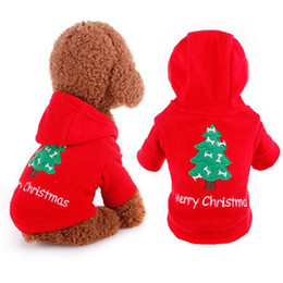 Wholesale Cat Christmas Coats - Brand New Pet Dog Cat Christmas Tree Clothes Puppy Hoodie Coat Winter Warm Outfit Apparel 1Pcs Free Shipping[FSA0003]