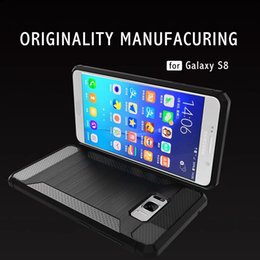 Wholesale Lg Phone Cases Covers - Phone Case For LG G6 Carbon Fiber Brushed Wire Drawing Silicone Cover For LG G 6 LGG6 5.7 inch Mobile Phone Shell