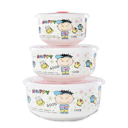 Wholesale Ceramic Containers Wholesale - Ceramics Lunch Box, Food Container Portable Bento Box. 3PCS High-Capacity Food Preservation. Durable,Attractive, and Easy to Clean.