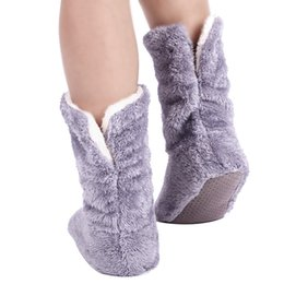 Wholesale Feet Warmers Socks - Wholesale-Recommend Super Warm Home Shoes Soft Plush House Slippers Top Quality Indoor Floor Socks , Indoor Slippers Winter Foot Warmer