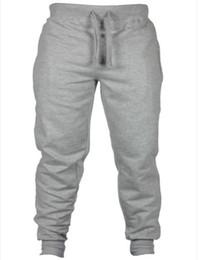 Wholesale Men Long Baggy Pants - Wholesale- 2016 fashon Fitness Long Pants Men Casual Sweatpants Baggy Jogger Trousers Fashion Fitted Bottoms streetwear hiphop