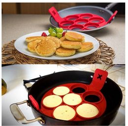 Wholesale Fantastic Cakes - Non Stick Flippin 'Fantastic Silicone Nonstick Perfect Pancakes Maker egg Silicone Baking Molds kitchen tools MM584