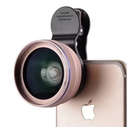 Wholesale Super Wide Lens Clip - New HD Camera Kit 0.45X Super Wide Angle Lens with 12.5X Macro Clip Cell Phone Lens