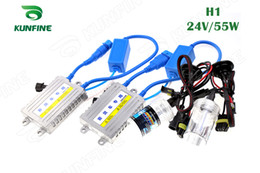 Wholesale Hid Slim Ballast Kit 55w - 24V 55W Xenon Truck Headlight H1 HID Conversion Xenon Kit Car HID Light with Slim AC Ballast for Lorry KF-K2008