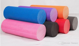 Wholesale yoga foam rollers - Eva Foam Yoga Roller With Massage Trigger Point Relief Muscular Fitness Yoga Rollers With 5 Color 30cm free shipping